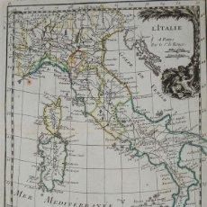 Arte: MAPA DE ITALIA, 1756. LE ROUGE. Lote 104603395