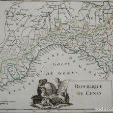 Arte: MAPA DE GÉNOVA (ITALIA), 1756. LE ROUGE. Lote 104603531