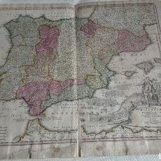 Arte: MAPA DE ESPAÑA . SIGLO XVIII .REGNORUM HISPANIAE ET PORTUGALLIAE - MAPA J. BAPT. HOMANN. Lote 104931355