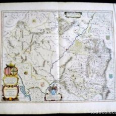 Arte: MAPA ANTIGUO ARAGÓN ARRAGONIA REGNUM BLAEU1635 CON CERTIFICADO AUTENT. MAPAS ANTIGUOS ARAGÓN. Lote 104944299