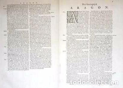 Arte: Mapa antiguo Aragón Arragonia Regnum Blaeu 1635 con certificado autenticidad. Mapas antiguos Aragón - Foto 5 - 104944299