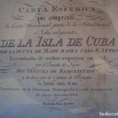 Arte: (ANT-171220)CARTA ESFERICA LA ISLA DE CUBA - AÑO 1821. Lote 105163527