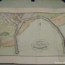 Arte: PRECIOSO PLANO DEL PUERTO Y MUELLE DE VALENCIA 1828. ACUARELADO. 26X36 C. LITOGRAFIA PRIMITIVA.. Lote 106005083