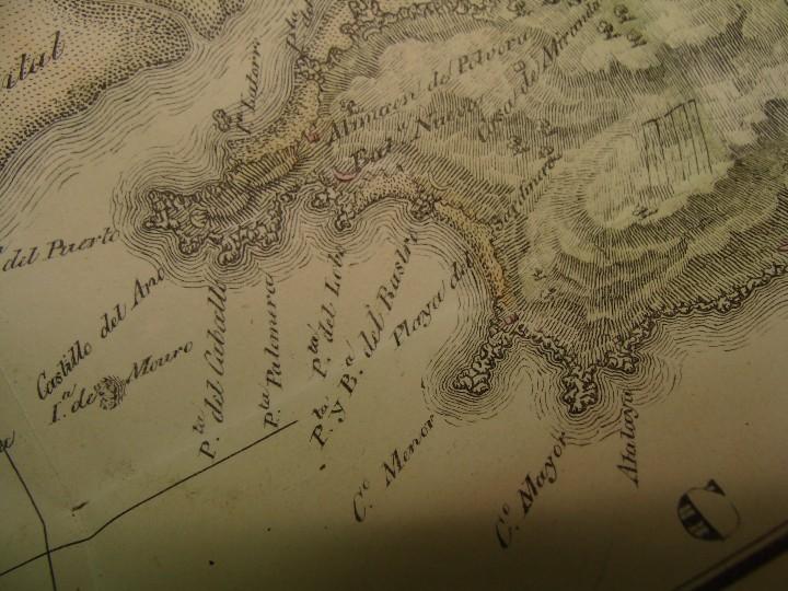 Arte: PRECIOSO PLANO RÍA Y PUERTO DE SANTANDER. 1828. ACUARELADO. 24X31 CM. LITOGRAFÍA PRIMITIVA. - Foto 6 - 106006931