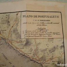 Arte: PRECIOSO PLANO DE PORTUGALETE Y SU FONDEADERO. 1828. ACUARELADO. 27X29CM. LITOGRAFÍA PRIMITIVA.. Lote 106008671