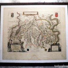 Arte: ANTIGUO MAPA CANAL DE SANTA MARIA - AÑO 1628 - FOSSA EUGENIANA - EXCEPCIONAL.. Lote 106090603
