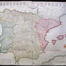 Arte: ANTIGUO GRAN MAPA DE ESPAÑA (INICIOS S. XVIII): L'ESPAGNE (POR N. DE FER). Lote 106172275