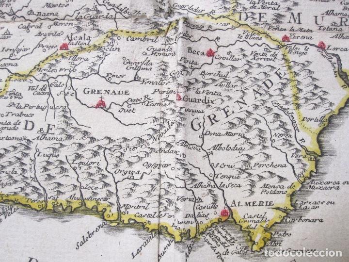Arte: Antiguo gran mapa de España (inicios S. XVIII): LESPAGNE (por N. de Fer) - Foto 3 - 106172275