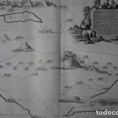 Arte: 1729 - MAPA BIBLIA EXODO ISRAELITAS EGIPTO DESIERTO MAR ROJO CANAAN - 580X520MM - MORTIER. Lote 106556163