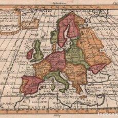 Arte: MAPA DE EUROPA - AÑO 1740. Lote 106694919