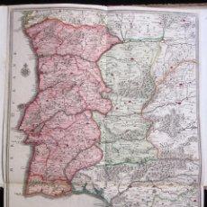 Arte: ANTIGUO MAPA DE ESPAÑA Y PORTUGAL (1742): LES FRONTIERES D'ESPAGNE ET DEPORTUGAL (POR N. DE FER). Lote 106699531