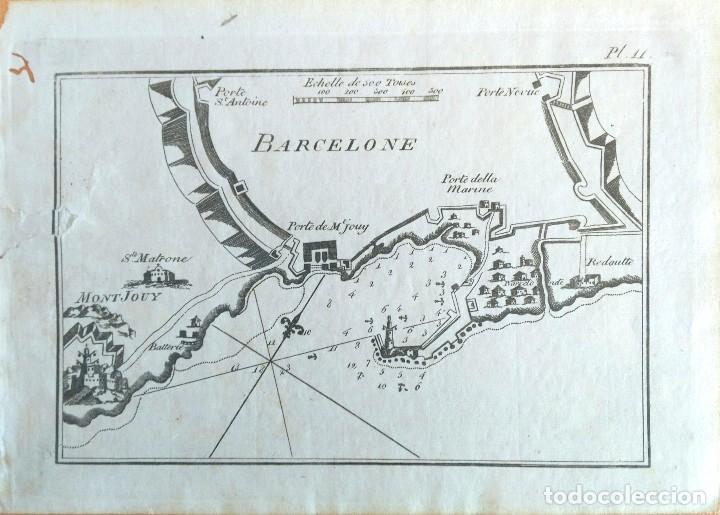 MAPA ANTIGUO BARCELONA AÑO 1764 CON CERTIFICADO AUTENTICIDAD. PORTULANOS ANTIGUOS BARCELONA (Arte - Cartografía Antigua (hasta S. XIX))