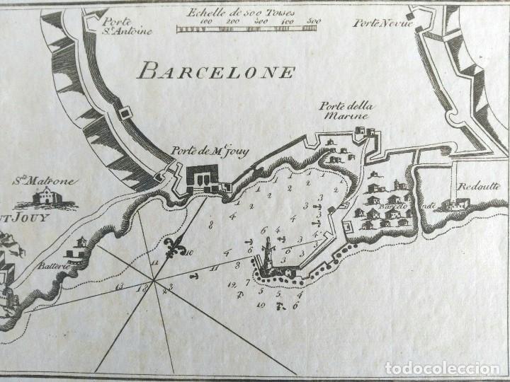 Arte: Mapa antiguo Barcelona año 1764 con certificado autenticidad. Portulanos antiguos Barcelona - Foto 2 - 106918779