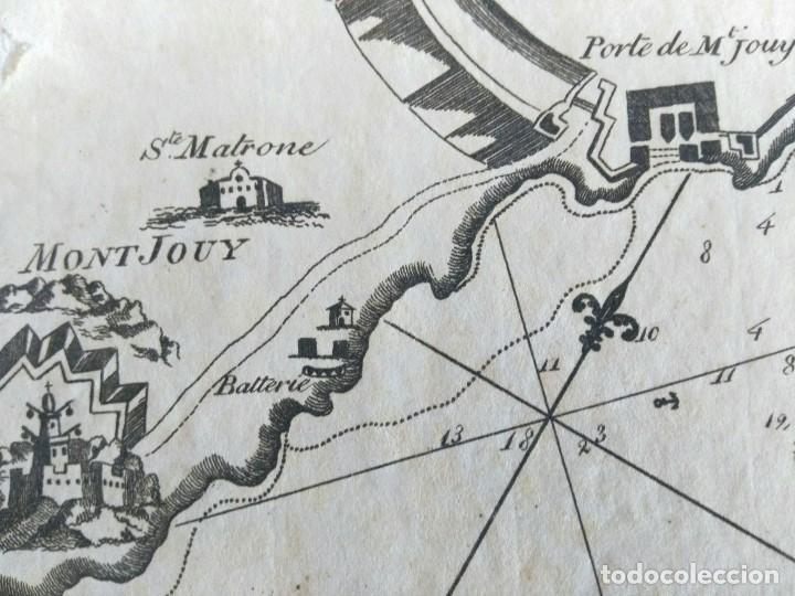 Arte: Mapa antiguo Barcelona año 1764 con certificado autenticidad. Portulanos antiguos Barcelona - Foto 3 - 106918779