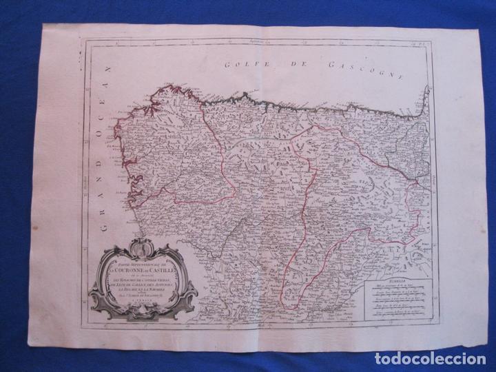 MAPA DE LA PARTE SEPTENTRIONAL DE ESPAÑA, 1776. VAUGONDY/ SANTINI (Arte - Cartografía Antigua (hasta S. XIX))