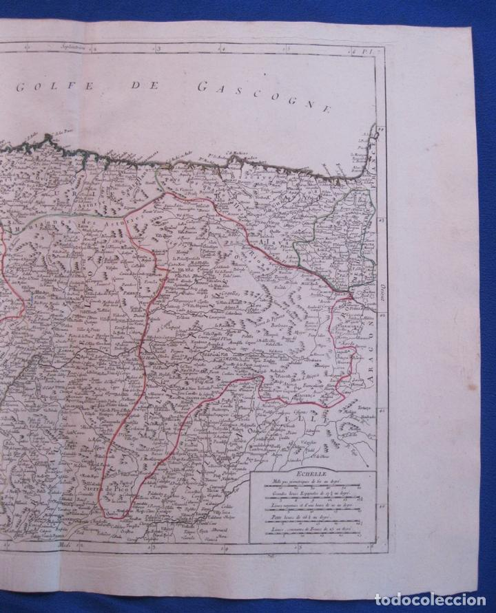 Arte: Mapa de la parte septentrional de España, 1776. Vaugondy/ Santini - Foto 3 - 106961027