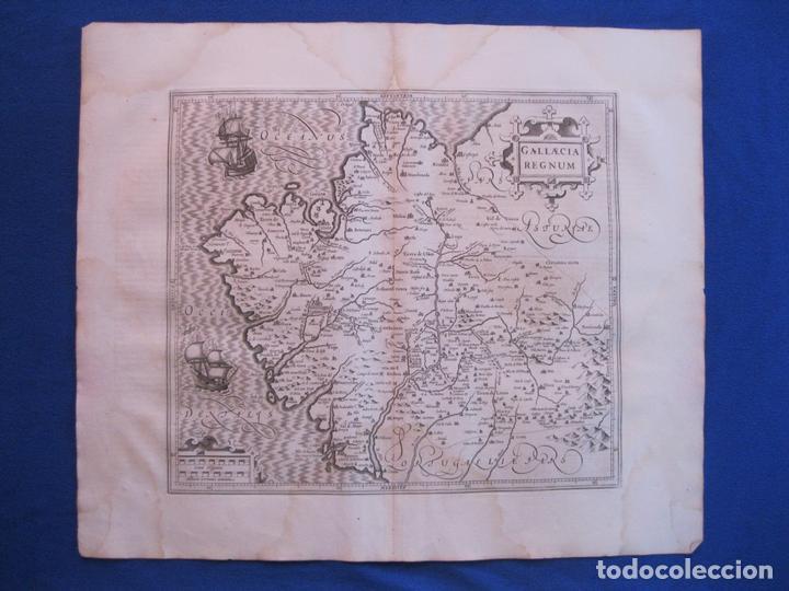 GRAN MAPA DE GALICIA (ESPAÑA), 1633. MERCATOR/HONDIUS (Arte - Cartografía Antigua (hasta S. XIX))