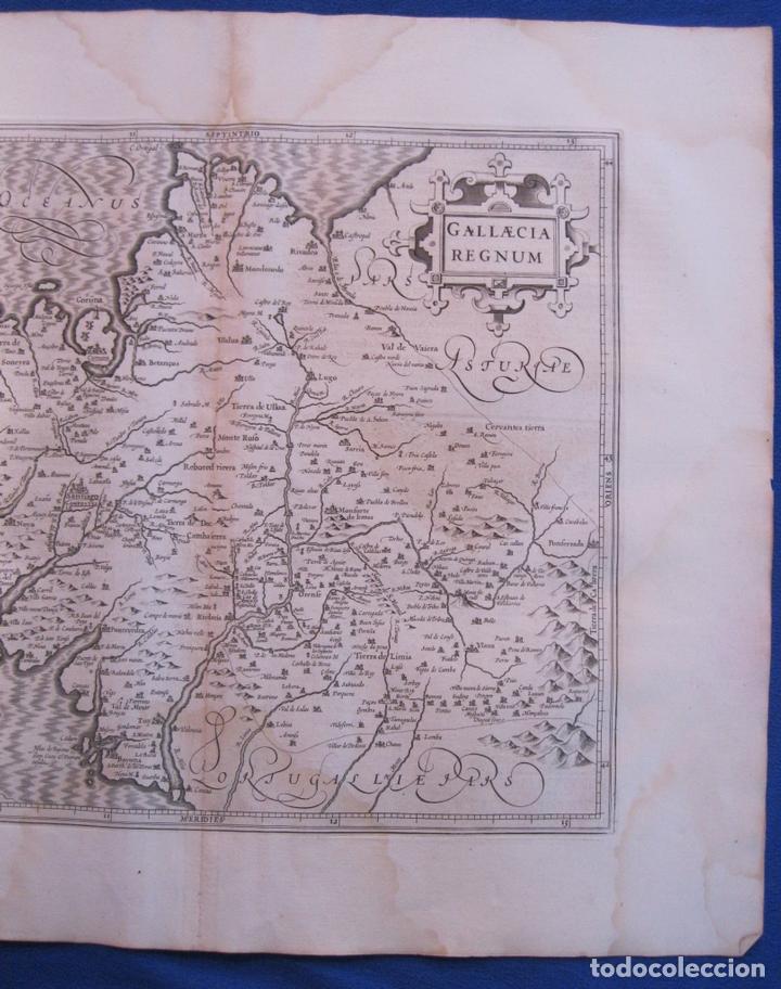 Arte: Gran mapa de Galicia (España), 1633. Mercator/Hondius - Foto 2 - 106961491