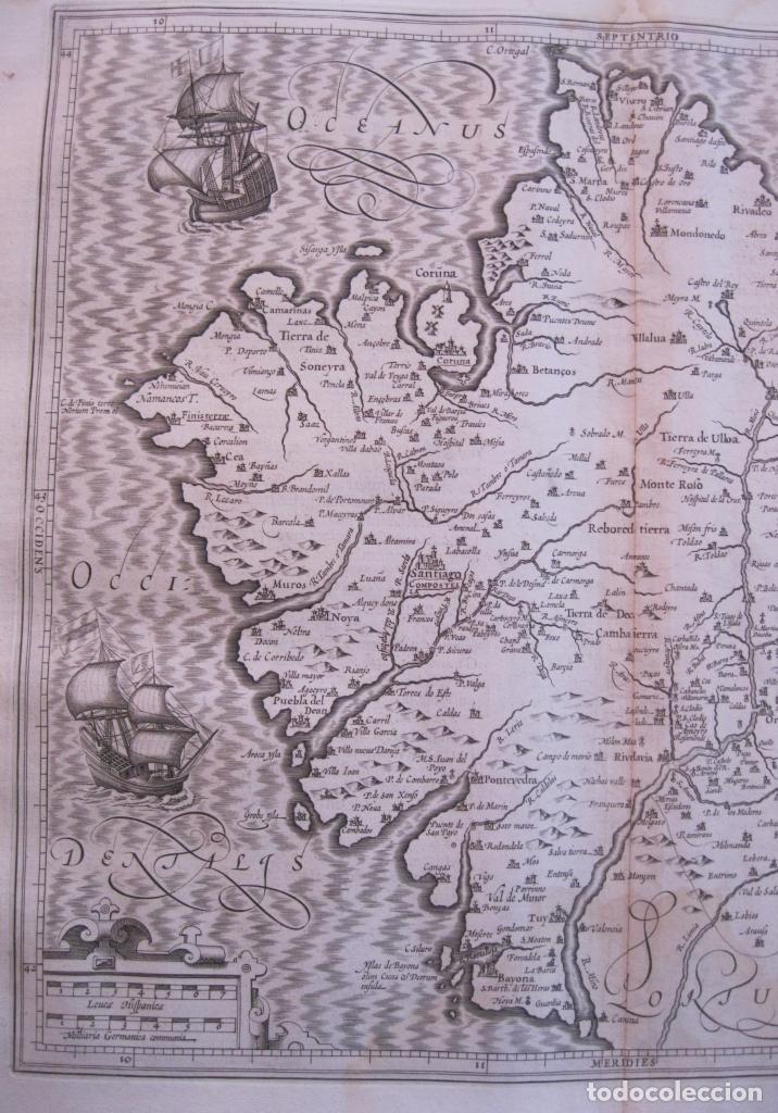 Arte: Gran mapa de Galicia (España), 1633. Mercator/Hondius - Foto 4 - 106961491