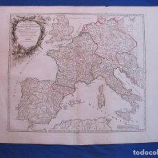 Arte: MAPA DEL IMPERIO DE CARLO MAGNO (EUROPA), 1752. ROBERT DE VAUGONDY. Lote 106961959