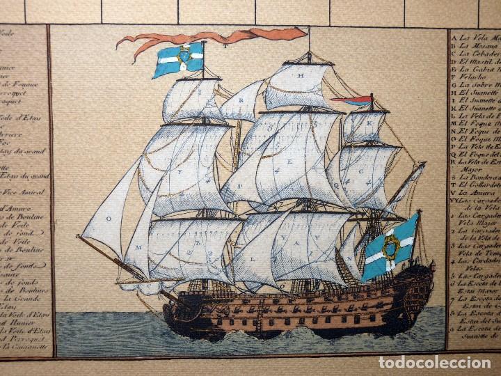 Arte: BANDERAS DE BARCOS. TABLEAU DE TOUS LES PAVILLONS QUE LON ARBORE SUR LES VAISSEAUX DANS LES QUATRE P - Foto 11 - 107315999