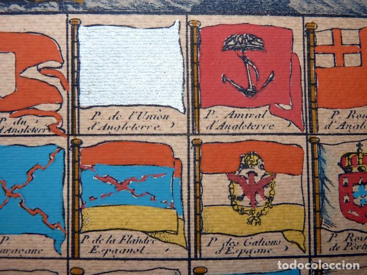 Arte: BANDERAS DE BARCOS. TABLEAU DE TOUS LES PAVILLONS QUE LON ARBORE SUR LES VAISSEAUX DANS LES QUATRE P - Foto 16 - 107315999