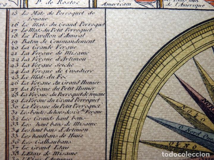 Arte: BANDERAS DE BARCOS. TABLEAU DE TOUS LES PAVILLONS QUE LON ARBORE SUR LES VAISSEAUX DANS LES QUATRE P - Foto 17 - 107315999