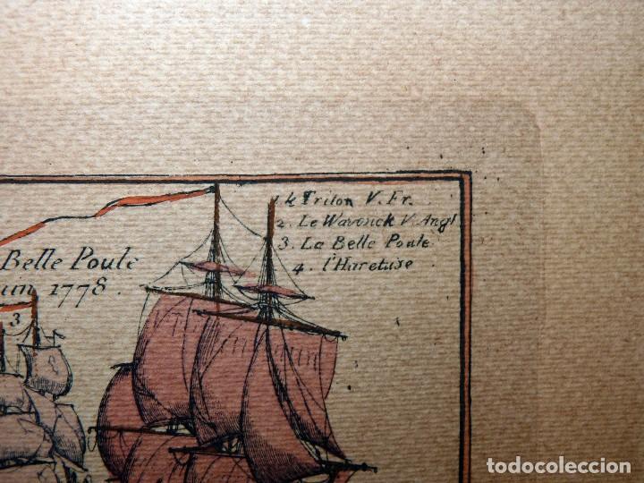 Arte: BANDERAS DE BARCOS. TABLEAU DE TOUS LES PAVILLONS QUE LON ARBORE SUR LES VAISSEAUX DANS LES QUATRE P - Foto 20 - 107315999