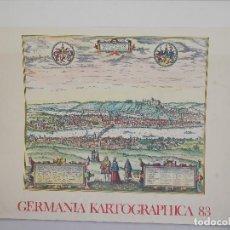 Arte: CARTOGRAFÍA ANTIGUA ALEMANIA GERMANIA KARTOGRAPHICA CALENDARIO MAPA ATLAS LAMINA. Lote 107384103