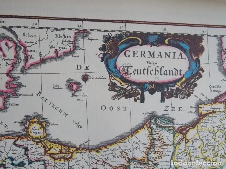 Arte: cartografía antigua Alemania germania kartographica calendario mapa atlas lamina - Foto 3 - 107384103