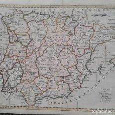 Arte: MAPA DE ESPAÑA Y PORTUGAL SIN MENORCA - AÑO 1785 - ORIGINAL. Lote 107404755