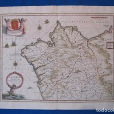 Arte: GRAN MAPA DEL REINO DE GALICIA (ESPAÑA), 1688. BLAEU. Lote 107652887