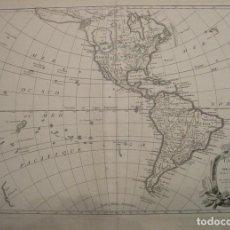 Arte: MAPA DE AMÉRICA NORTE Y SUR, 1762. JANVIER/LATTRE. Lote 107655531