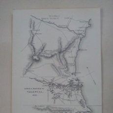 Arte: MAPA ASEDIO Y BATALLA DE VALENCIA (1812). Lote 107842607