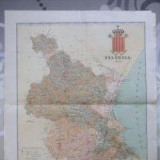 Arte: MAPA PROVINCIA VALENCIA 1901. Lote 107847143