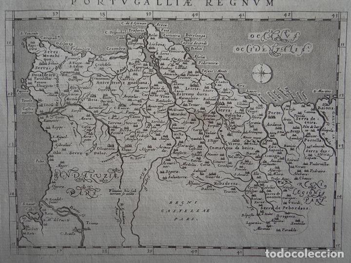 ANTIGUO MAPA DEL REINO DE PORTUGAL, 1597. PTOLOMEO/GIROLAMO PORRO (Arte - Cartografía Antigua (hasta S. XIX))