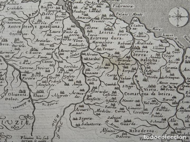 Arte: Antiguo mapa del Reino de Portugal, 1597. Ptolomeo/Girolamo Porro - Foto 3 - 107970931