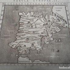 Arte: ANTIGUOS MAPAS DEL REINO DE PORTUGAL, ESPAÑA E INGLATERRA, 1597. PTOLOMEO/ GIROLAMO PORRO. Lote 107971731