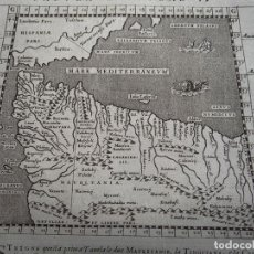 Arte: ANTIGUO MAPA DEL NORTE DE ÁFRICA Y SURESTE DE ESPAÑA, 1597. PTOLOMEO/GIROLAMO PORRO. Lote 107973191