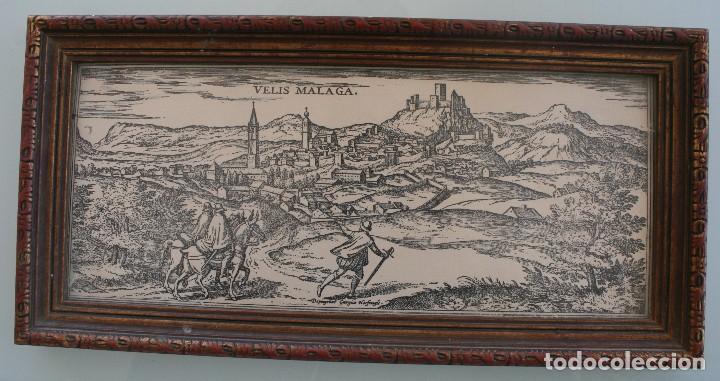 DEPINGEBAT GEORGIUS HOEFNAGLE – ANTIGUO GRABADO CARTOGRAFIA EN PLANCHA DE COBRE: VELIS MALAGA (Arte - Cartografía Antigua (hasta S. XIX))