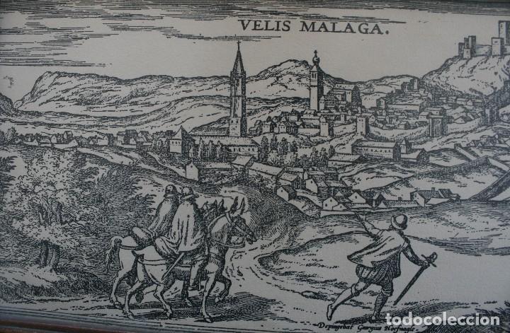 Arte: DEPINGEBAT GEORGIUS HOEFNAGLE – ANTIGUO GRABADO CARTOGRAFIA EN PLANCHA DE COBRE: VELIS MALAGA - Foto 2 - 108076199