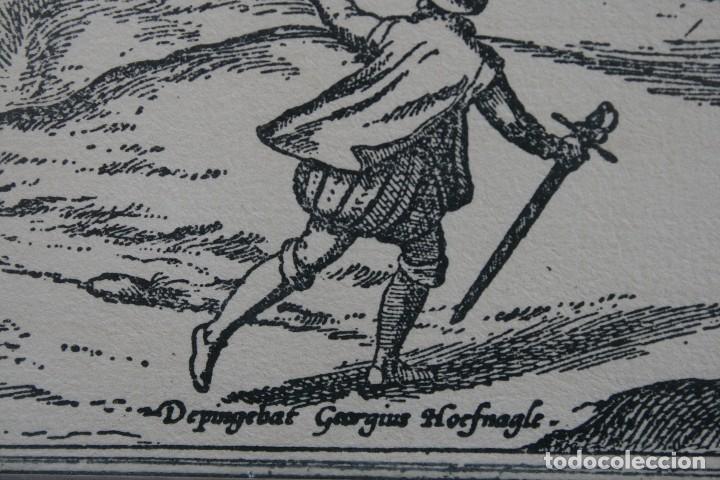 Arte: DEPINGEBAT GEORGIUS HOEFNAGLE – ANTIGUO GRABADO CARTOGRAFIA EN PLANCHA DE COBRE: VELIS MALAGA - Foto 3 - 108076199