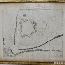 Arte: MAPA DE PUIGCERDÀ - GRABADO DE 1695 POSIBLEMENTE DE NICOLAS DE FER-NUMERADO 265.29 X 23 CM. Lote 108692963