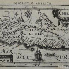 Arte: MAPA DE CHILE, 1616. BERTIUS/HONDIUS. Lote 120700382