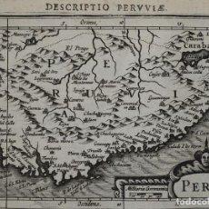 Arte: MAPA DE PERÚ, 1616. BERTIUS/ HONDIUS. Lote 108843815