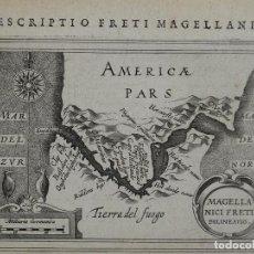 Arte: MAPA DEL ESTRECHO DE MAGALLANES( AMÉRICA DEL SUR), 1616. BERTIUS/HONDIUS. Lote 108844151