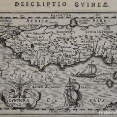 Arte: MAPA DE GUINEA ( ÁFRICA , 1616. BERTIUS/ HONDIUS. Lote 108848143