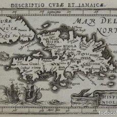 Arte: MAPA DE SANTO DOMINGO (REPUBLICA DOMINICANA), 1616. BERTIUS/HONDIUS. Lote 108848147