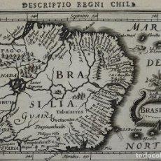 Arte: MAPA DE (BRASIL ( AMÉRICA DEL SUR ), 1616. BERTIUS/HONDIUS. Lote 108848291