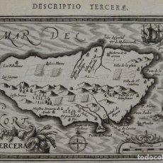 Arte: MAPA DE ISLA TERCEIRA, AZORES (PORTUGAL), 1616. BERTIUS /HONDIUS. Lote 108848335
